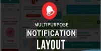 Notification multipurpose layout