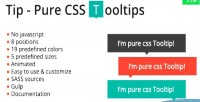 Pure tip css tooltips