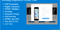 Responsive bootstarp product view