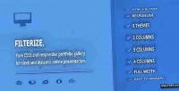 Responsive filterize. gallery portfolio css3