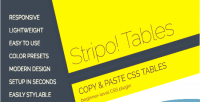 Responsive stripo tables