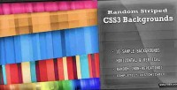 Striped random css3 backgrounds