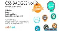 Svg css3 badges