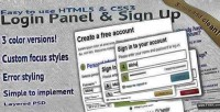 Easy to use html5 panel login css3