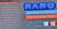 Nano ui css3 web kit ui elements