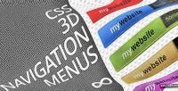 3d css navigation menus