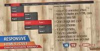 3d responsive css3 menu