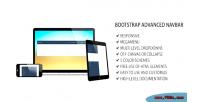 Advanced bootstrap navbar