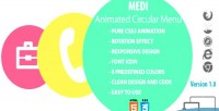 Animated medi circular menu