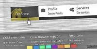 Animated transy dropdown menu