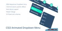 Classic css3 dropdown menu
