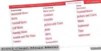 Clean css3 mega menu