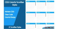 Colorful css3 scrollbar styles