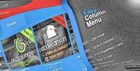 Column easy responsive menu