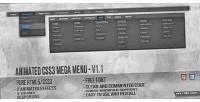 Css3 animated mega menu