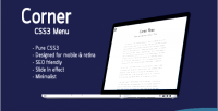 Css3 corner minimalist menu