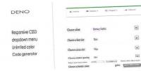 Css3 deno customize menu dropdown responsive