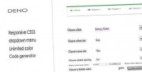 Css3 deno customize menu dropdown responsive