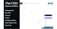 Css3 flat responsive menu