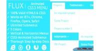 Css3 flux animated menu