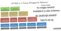 Css3 html5 elegant menu