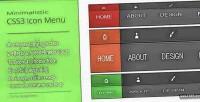 Css3 minimalistic icon menu