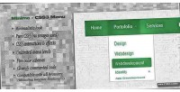 Css3 minimo menu