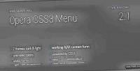 Css3 opera menu