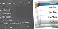 Css3 pure accordion menu