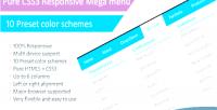 Css3 pure menu mega responsive