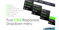 Css3 pure responsive menu down drop