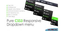 Css3 pure responsive menu down drop