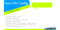 Css3 pure tooltip