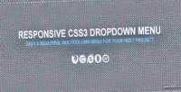 Css3 responsive dropdown menu