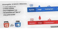Css3 simple menu