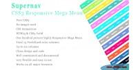 Css3 supernav menu mega responsive