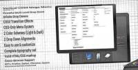 Css3 vertical mega menu