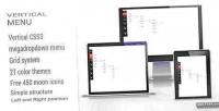 Css3 vertical megadropdown menu