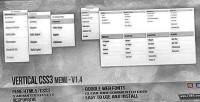 Css3 vertical menu