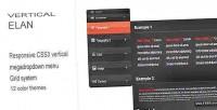 Elan vertical responsive menu vertical css3