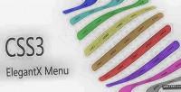 Elegantx css3 menu