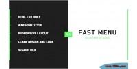 Fast enestife menu responsive