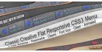 Flat classic menu horizontal corporate