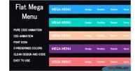 Flat css3 mega menu