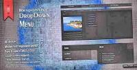 Html5 responsive menu dropdown css3