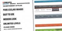 Inline konafa navigation menu horizontal