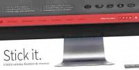 Stick it. html5 css3 menu footer sticky