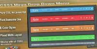 Mega css3 menu down drop