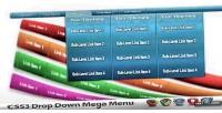 Mega css3 menus