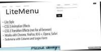 Mega litemenu menu dropdown animated